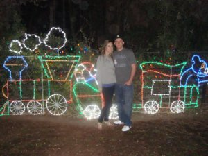 Krissy with her husband Brandon at last year's Zoo Lights